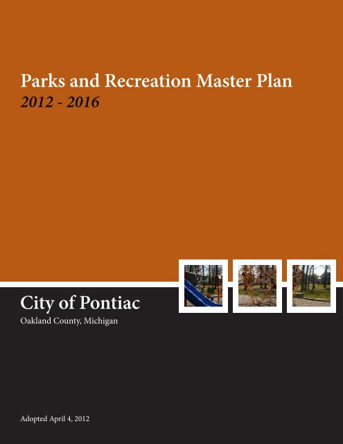 City of Pontiac Parks and Recreation Master Plan