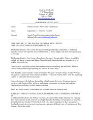 to read the press release for the Fall 2013 classes. - City of Pontiac