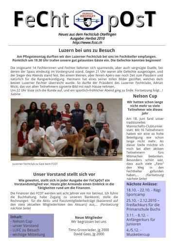 Luzern bei uns zu Besuch - Fechtclub Otelfingen