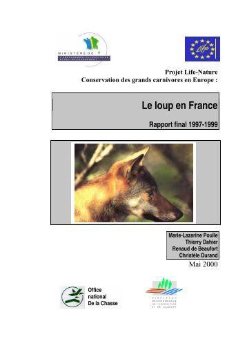Le loup en France Rapport final 1997-1999 - Ferus