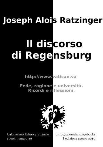 Il discorso di Regensburg - Calomelano