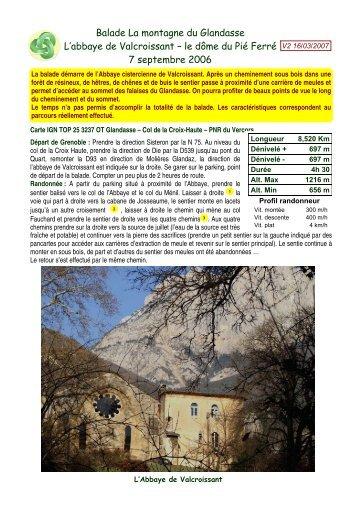 Balade La montagne du Glandasse L'abbaye de ... - Jean-Louis Negre