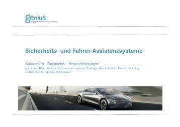 Sicherheits- und Fahrer-Assistenzsysteme - Genius