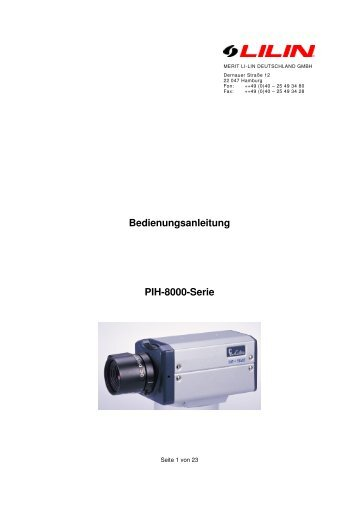 Bedienungsanleitung PIH-8000-Serie - Merit Li-Lin DEUTSCHLAND ...
