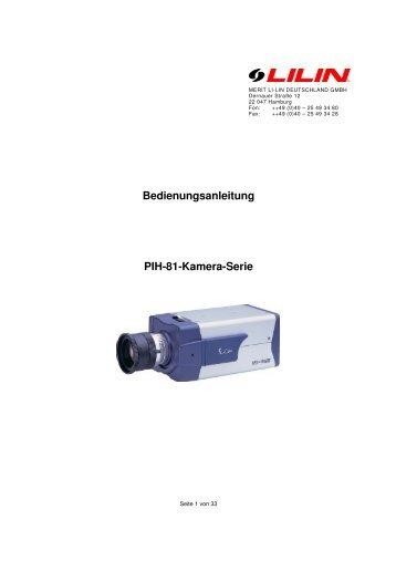 Bedienungsanleitung PIH-81-Kamera-Serie - Merit Li-Lin ...