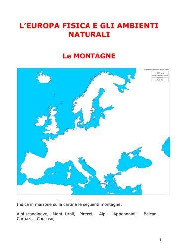 l'europa fisica e gli ambienti naturali - Tanti mondi una comunità