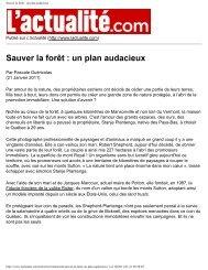 Sauver la forêt : un plan audacieux | L'actualité - La fiducie foncière ...