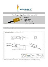 Fiber Coupled Single Emitter Diode Laser (CW ... - RPMC Lasers