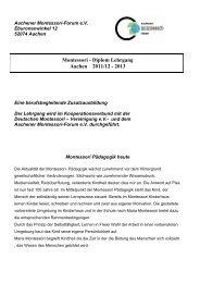 Montessori - Diplom Lehrgang Aachen 2011/12 - 2013 - Aachener ...
