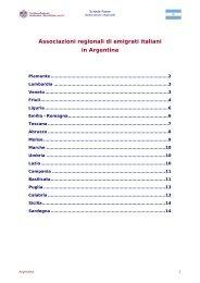 Associazioni regionali di emigrati italiani presenti in Argentina - FAI