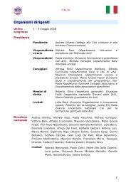 Organismi dirigenti - Aclifai.it