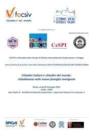 Cittadini italiani e cittadini del mondo: cittadinanza nelle ... - Aclifai.it