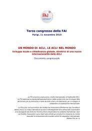 Documento congressuale - Aclifai.it