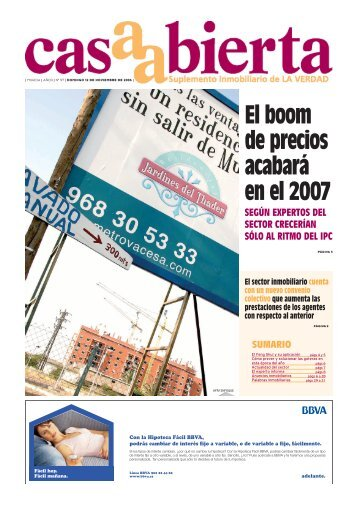 El boom de precios acabará en el 2007 - laverdad.es