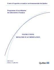 Demande d'accréditation - Centre d'expertise en analyse ...
