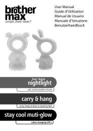 carry & hang nightlight stay cool muti-glow nightlight - Brother Max