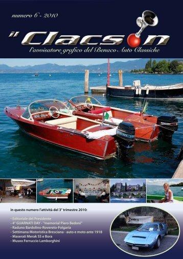 edizione n° 6 anno 2010 - Benaco Auto Classiche