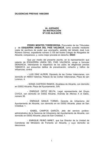 DILIGENCIAS PREVIAS 1468/2008 AL JUZGADO DE ... - laverdad.es