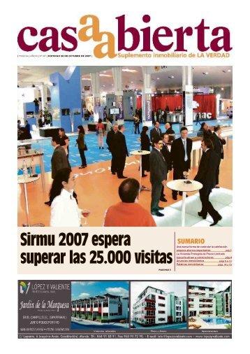 Sirmu 2007 espera superar las 25.000 visitas - laverdad.es