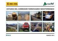 estudio del corredor ferroviario mediterráneo - Ministerio de Fomento