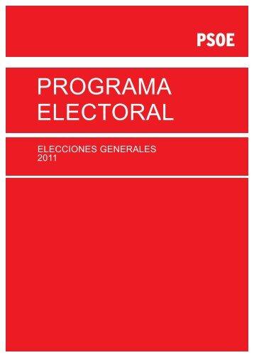 Programa Electoral PSOE 2011 - El Mundo