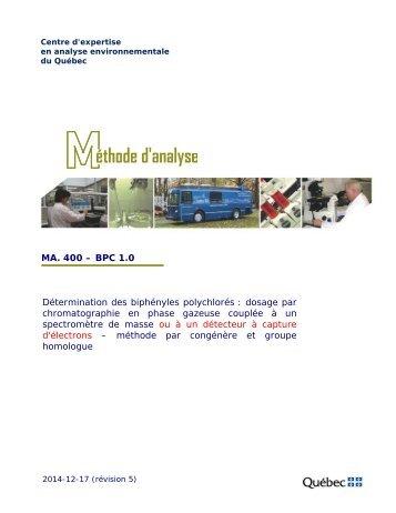 MA. 400 - BPC 1.0 - Centre d'expertise en analyse ...