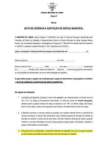 Anexo 2 - Auto de Cedencia - Programa Local de Habitação