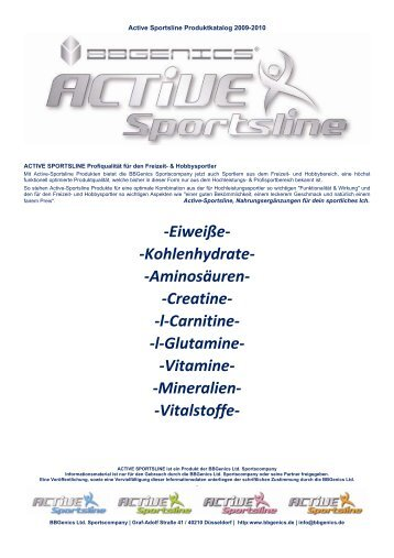 l-Carnitine- -l-Glutamine - BBGenics Ltd.