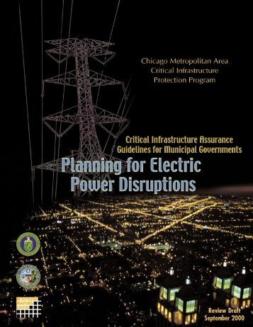 Critical Infrastructure Assurance Guidelines for Municipal ...