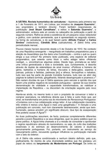 A SÁTIRA. Revista humorística de caricaturas - Hemeroteca Digital