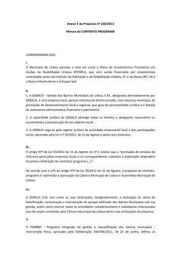 Anexo I - minuta CP Gebalis - Programa Local de Habitação