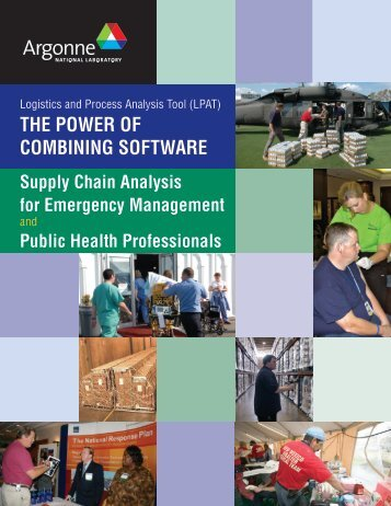 Supply Chain Analysis for Emergency Management and Public ...