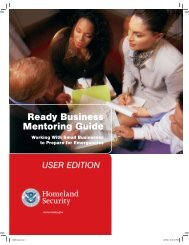 Ready Business Mentoring Guide: User Edition - Ready.gov