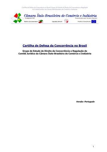 Cartilha de Defesa da Concorrência no Brasil - Câmara Ítalo ...