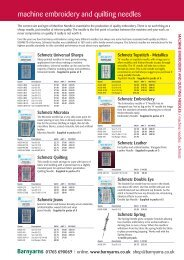 machine embroidery and quilting needles - Barnyarns