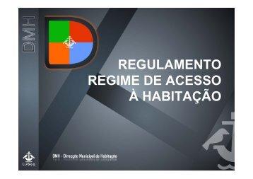 REGULAMENTO REGIME DE ACESSO À HABITAÇÃO