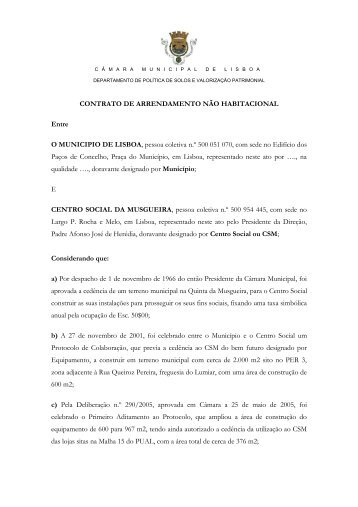 Anexo VI - contrato arrendamento - Programa Local de Habitação