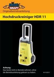 Hochdruckreiniger HDR 11 Achtung - cleanerworld GmbH