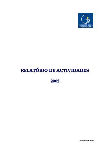 2002 - Autoridade para as Condições do Trabalho