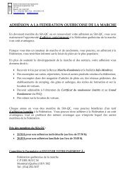 Formulaire d'adhésion jumelée - Sentier international des Appalaches