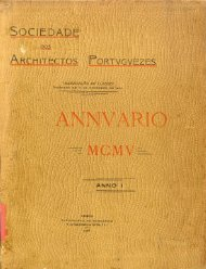Anuário da Sociedade dos Arquitectos Portugueses, Ano I, 1905