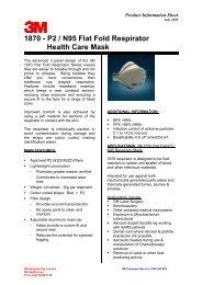 1870 - P2 / N95 Flat Fold Respirator Health Care Mask - 3M Australia