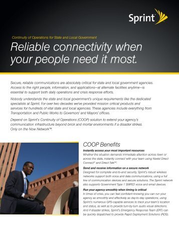 Reliable connectivity when your people need it most.
