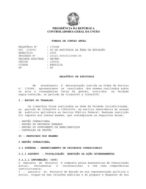 presidência da república controladoria-geral da união