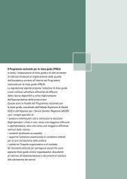 Il Programma nazionale per le linee guida (PNLG) - Sistema ...
