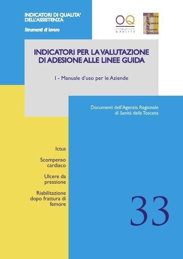 indicatori per la valutazione di adesione alle linee guida - Sistema ...
