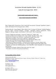 Gastrectomia laparoscopica per cancro - Sistema Nazionale Linee ...