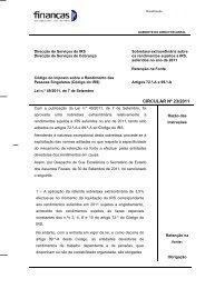 Circular nº 23/2011 - Portal das Finanças