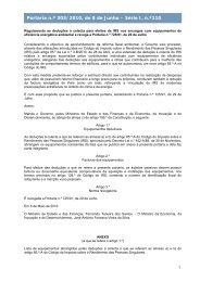 Portaria n.º 303/2010, de 8 de Junho - Portal das Finanças