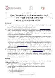 Documento definitivo di consenso - Sistema Nazionale Linee Guida